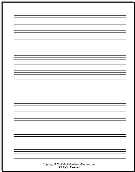 Current image throughout printable staff paper with bar lines