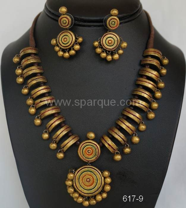 "Sparque Studio @ www.sparque.com specializes in uniquely designed handcrafted and handpainted organic terracotta jewelry made from clay( baked earth ). Being totally eco-friendly, we can contribute our mite in preserving nature and can proudly say ""we care!"