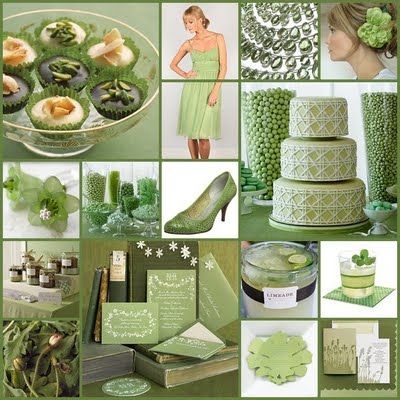 """Pistachio Green Wedding Palette - I think pistachio means a neutral green or slightly yellow green that is somewhat pale. On the other hand, some folks call mint green """"pistachio""""."""