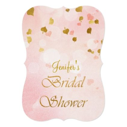 Gold glitter Bridal Shower Invitation - luxury gifts unique special diy cyo