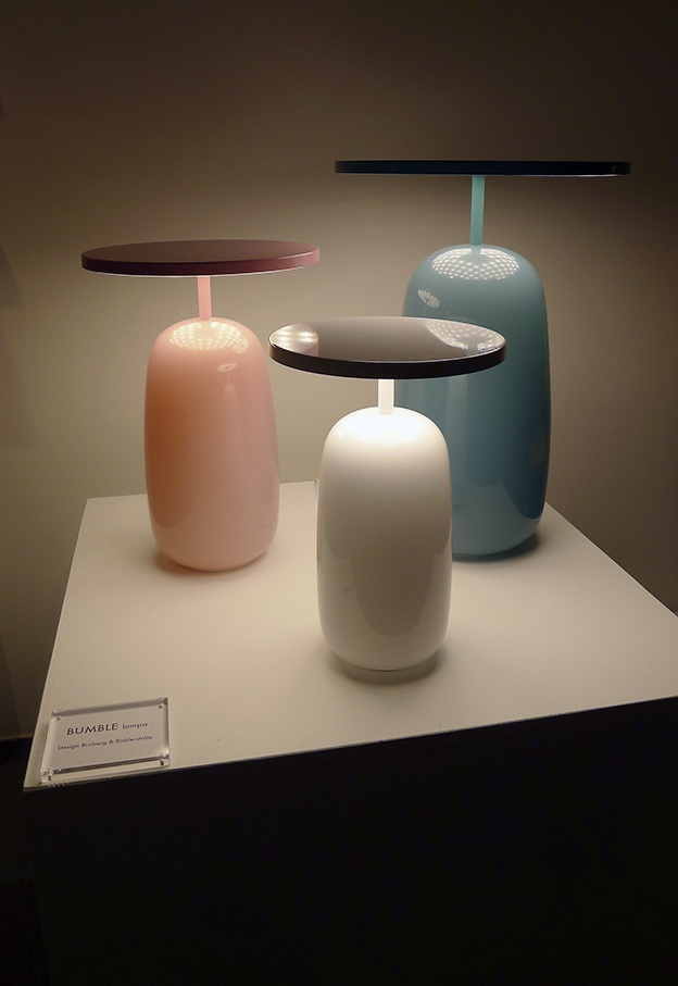 Hand-blown Bumble table lamps by Broberg and Ridderstråle for Klong.
