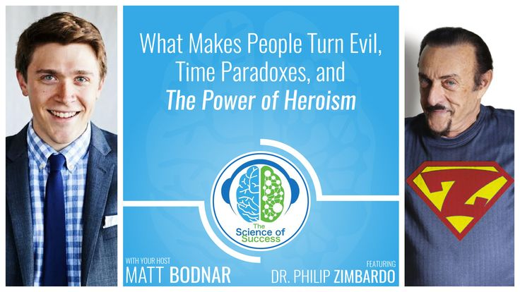 """In this episode we discuss how to create evil in a research laboratory, what makes people """"turn evil"""", we examine the definition of heroism, dig into the famous Stanford Prison Experiment, explore time paradoxes, and much more with the legendary Dr. Philip Zimbardo."""