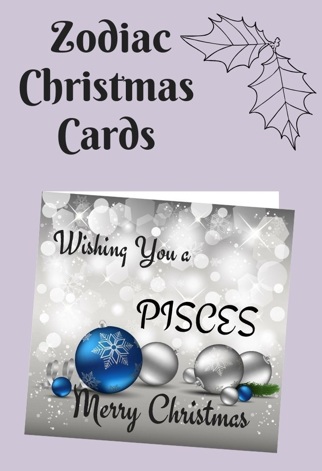 Beautiful Christmas Card For Pisces Zodiac Sign Zodiac Things