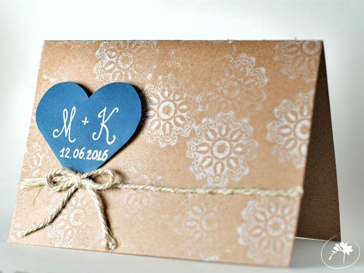 winter winter wedding invitation rustic blue DIY handmade love zimowe wesele zaproszenia ślubne moje wielkie wiejskie wesele