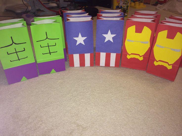 Avengers party favor bags