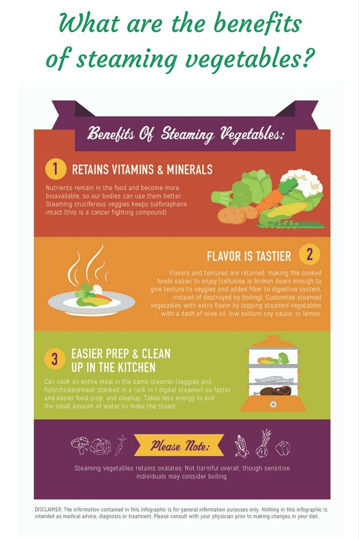 BENEFITS OF STEAMING VEGETABLES