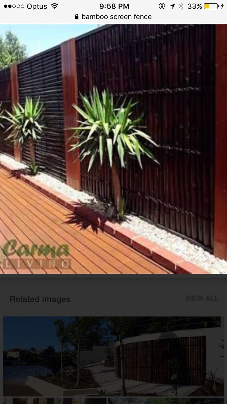 Bamboo Fence Fencing Bamboo Screen X Double Lacquer Heavy Duty Rope