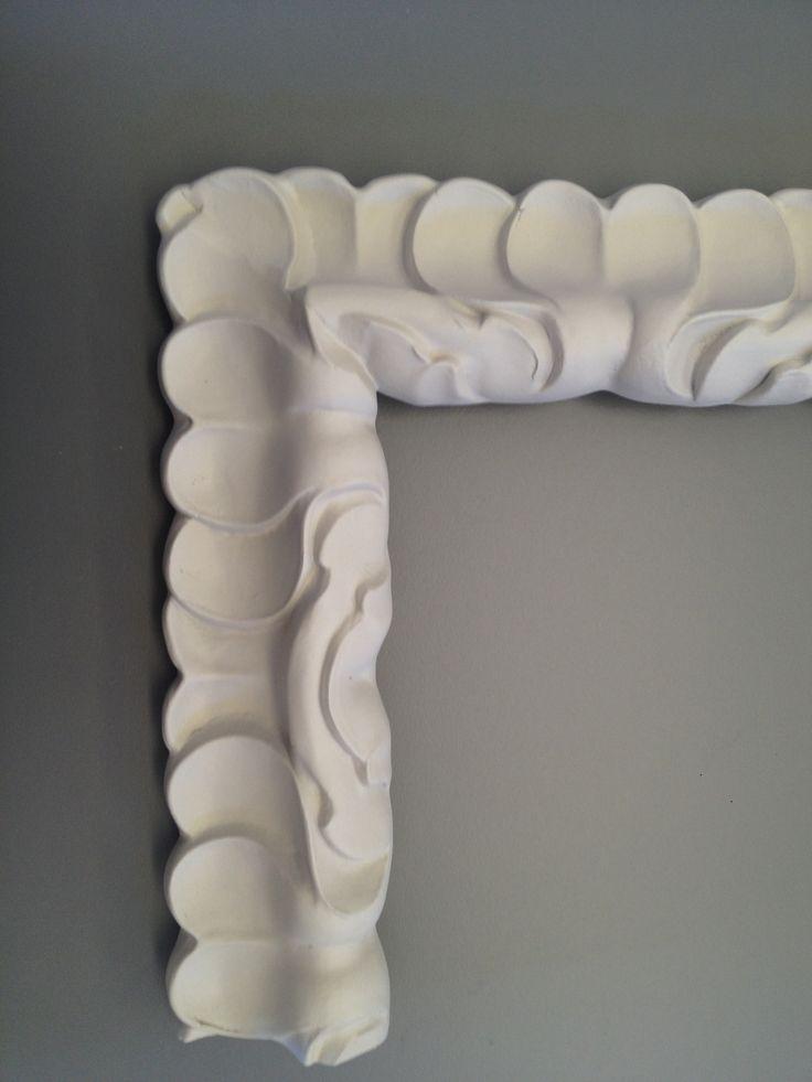 precios taller moldura lacada en blanco roto mate de una sola pieza