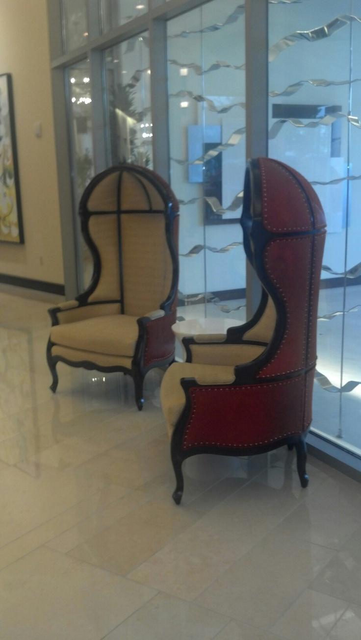 Unique Chairs @ Renaissance Hotel In Baton Rouge