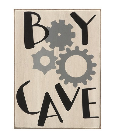 Take a look at this Black & White 'Boy Cave' Plaque by Collins on #zulily today!