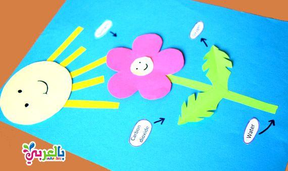 نشاط عن التمثيل الضوئي للاطفال انشطة علوم لرياض الاطفال وسيلة تعليمية عن عملية التمثيل الضوئ Baby Play Activities Sewing Projects For Kids Kids Education