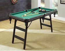 Portable Pool Table Billiard Folding Home 5 foot Fold Up Travel Mini Kids NEW