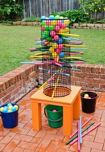 Make this fun backyard game to enjoy all summer!