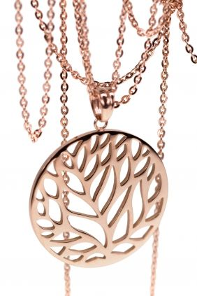 Stainless steel necklace with a high quality rose gold plating from WWW.NEWONE-SHOP.COM #necklace #stainlesssteel #jewelry