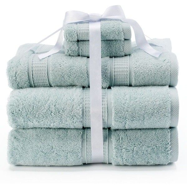 Kassatex Turkish Cotton 6-pc. Bath Towel Set, Green ($60) ❤ liked on Polyvore…
