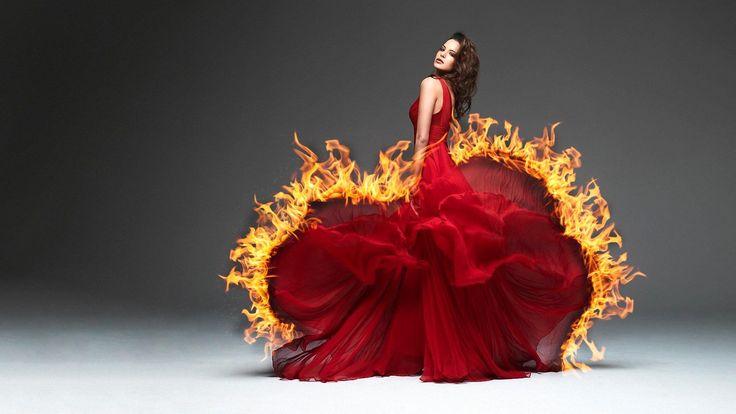 girl with fire around  original picture taken by koukei - http://koukei.deviantart.com/art/Natascha-Verkaik-dose-Alex-Perry-313561876?offset=20