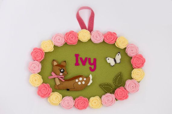 Personalized children's name plaque, door sign from Babes in the Woods. $58