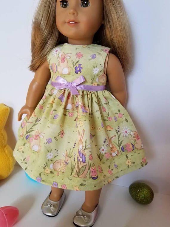 "For 18/"" American Girl Doll Clothes Easter Egg Lavender Dress"