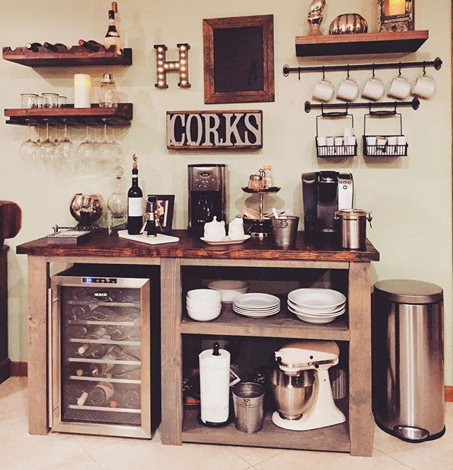 Home Bar Decor Ideas: 25+ DIY Coffee Bar Ideas For Your Home (Stunning Pictures