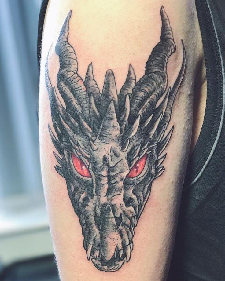Dragon Head Tattoo