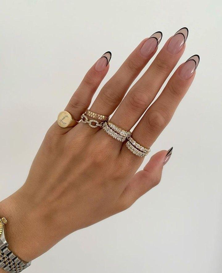 ꒰🍣꒱ 爱⁷ | Minimalist nails, Minimal nails, Fire nails