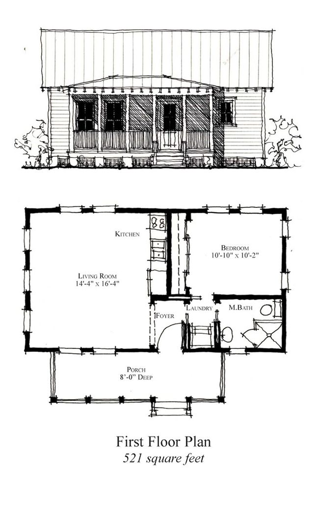 49 best Tiny Micro House Plans images on Pinterest   Tiny house ...