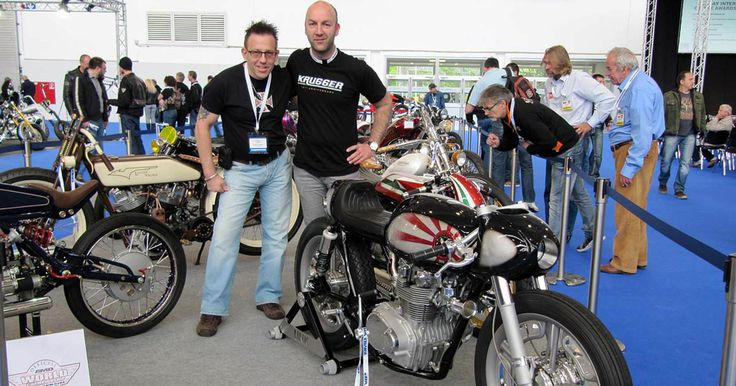 The Master Himself: Fred Krugger and his jaw dropping Honda #caferacer http://caferacer-manufacture.com/pl/galerie/