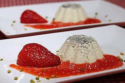 Panna cotta mit Erdbeersauce (Rezept mit Bild) von Ela* | Chefkoch.de