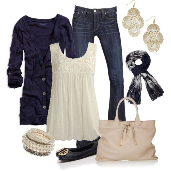 """Navy and Cream"" by smores1165 on Polyvore"