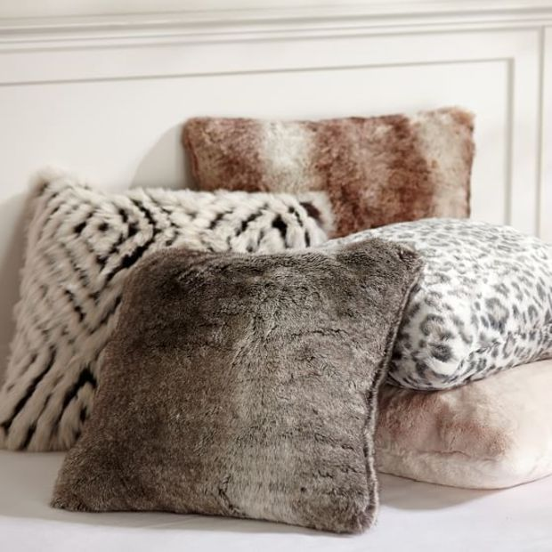 Faux fur pillow cover talk pinterest