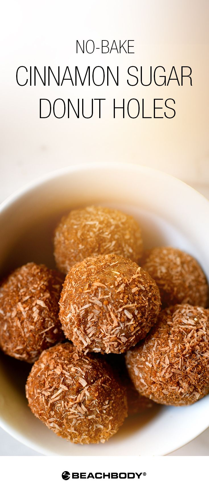 We know what you're thinking: It's a trick. Those can't taste like donut holes. But guess what? These little treats are surprisingly close to the real thing! With these Shakeology Donut Holes, you can treat yourself to a breakfast snack at any time of day without any guilt. // healthy recipes // shakeology recipes // no bake recipes // breakfast // snacks // desserts // donuts // Beachbody // BeachbodyBlog.com