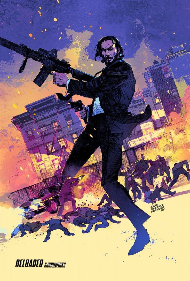 Movie Poster Movement — John Wick 2 by Denys Cowan and Bill Sienkiewicz