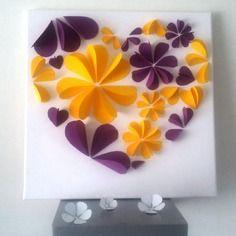 Livre d'or - arbre à signature 3d- arbre à empreintes sur une toile en coton  40x40 cm