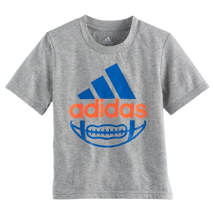 Boys 4-7x Adidas Football Graphic Tee, Size: 6, Grey