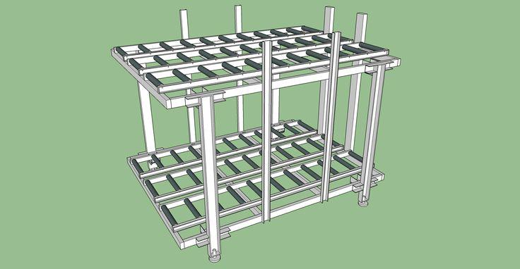 Pallet rack redrawing using SketchUp #sketchup #design #3d #nknproduction #roller-deck #air-cargo