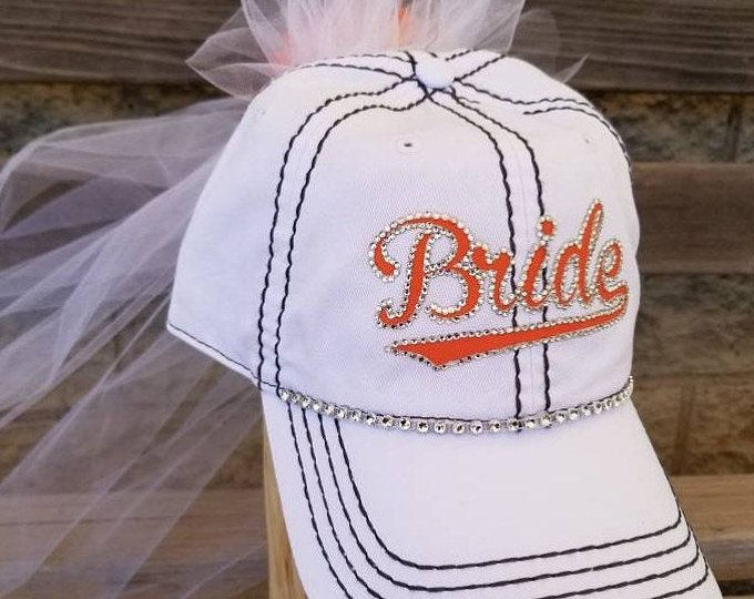 Bride Baseball Cap With Veil Mom Hats Team Bride Hats Sports Themed Wedding