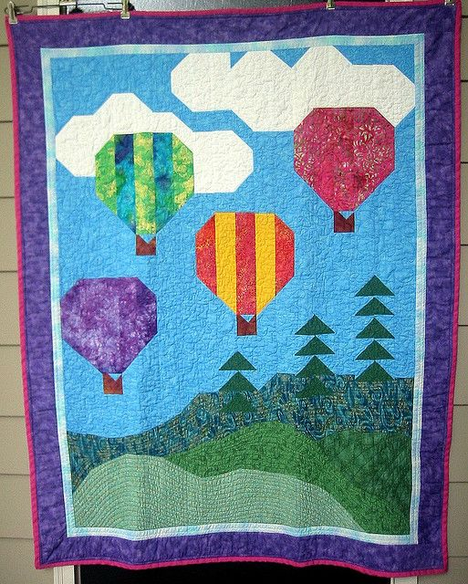 hot air balloon quilt images  pinterest