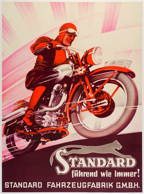 Standard Motorcycles Poster