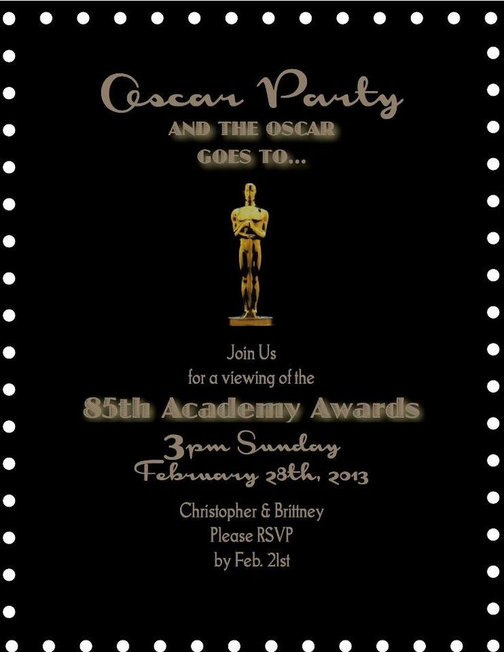 oscar party filmstrip oscar party template movies and tvs