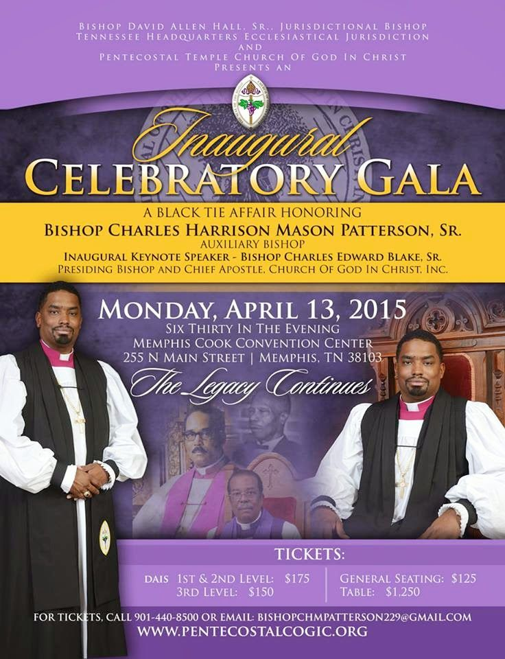 COGIC Gain Another Bishop, Charles Harrison Mason Patterson, Sr. ~  Sanctified Church Revolution