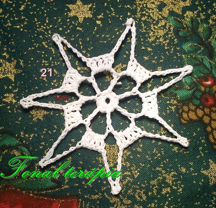 fehér#csillag#karácsony#horgolt