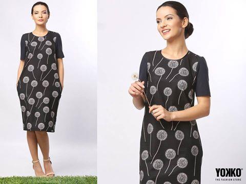 Sweet casual dandelion dress  YOKKO | fall16  #dress #print #dandelion #casual #fall #madeinromania #yokko