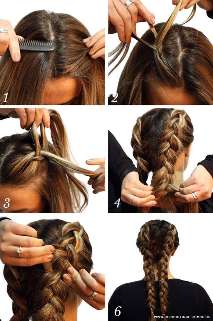 Her How To Two Braids Tutorial Braided Hairstyles Easy Two Braid Hairstyles Braided Hairstyles Tutorials