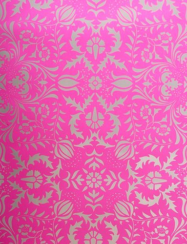 hot pink silver damask wallpaper taylor 39 s room