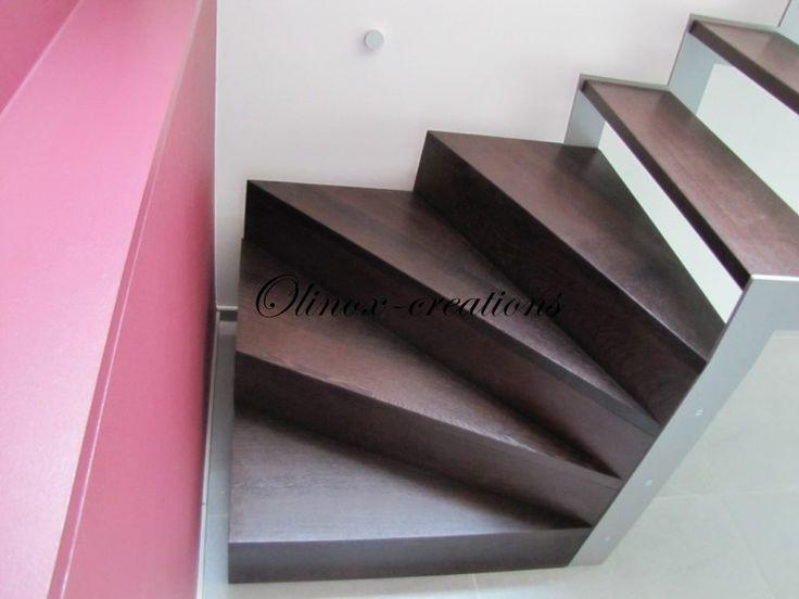 Escalier cube en wengé