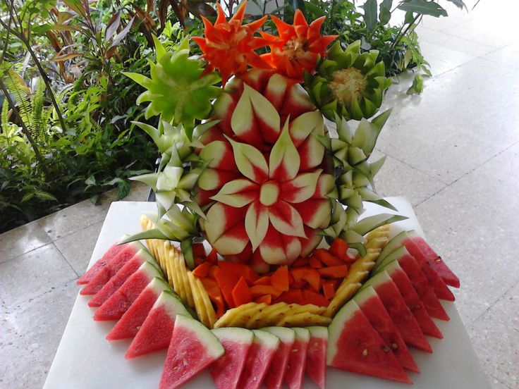 Best fruit and vegetable carving images on pinterest