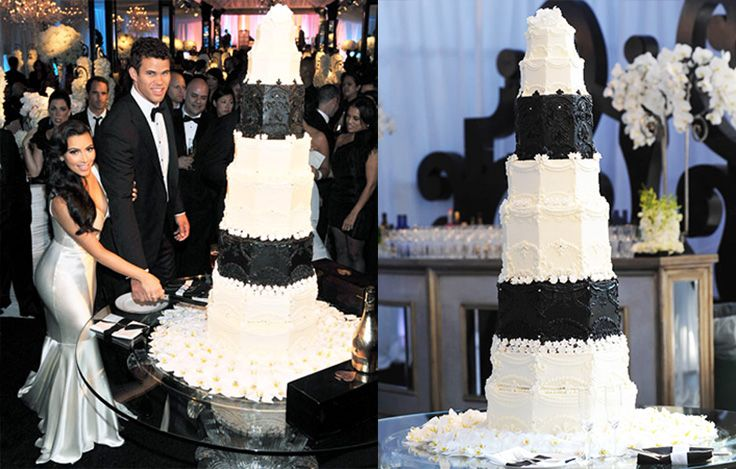 Kris-Humphries-and-Kim Kardashian-Black-and-White-Marble ...