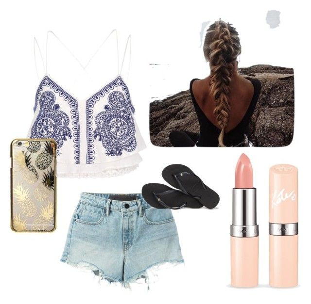 """""""Untitled #3"""" by elvira-v on Polyvore featuring River Island, T By Alexander Wang, Skinnydip and Havaianas"""
