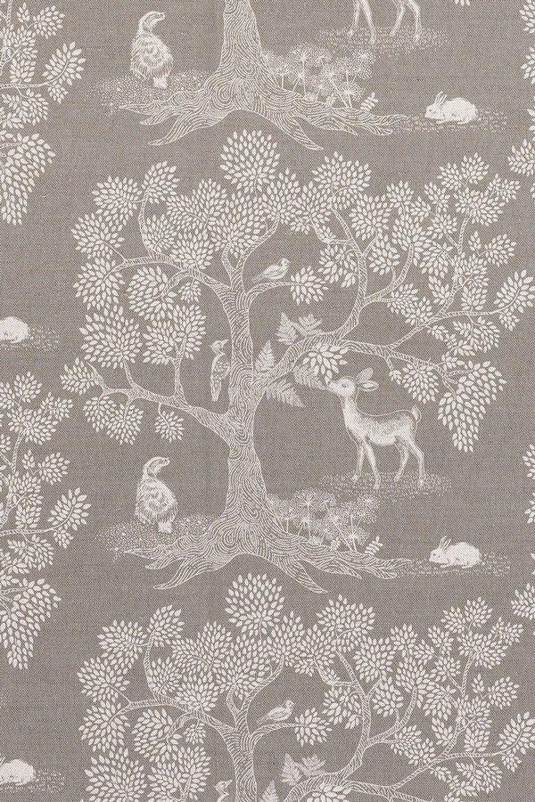 Grey Enchanted Wood Fabric