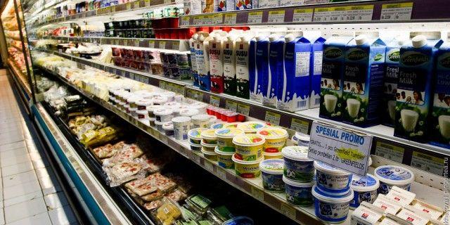 Das Essen im Supermarkt DE-RU — немецкие слова на тему Еда в супермаркете